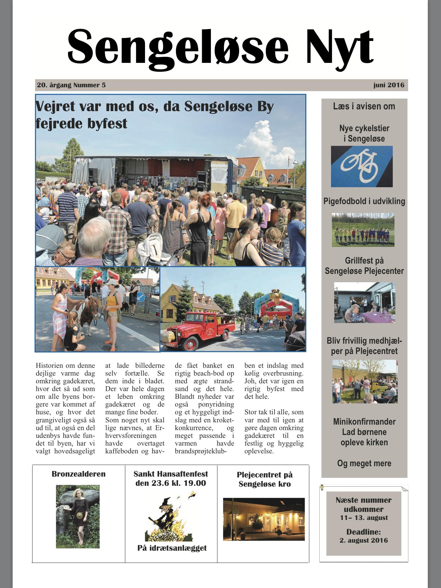 Sengeløse Nyt juni 2016
